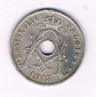 25 CENTIMES  1913 VL   BELGIE /2375/ - 05. 25 Centimes