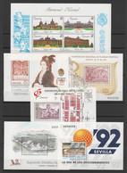 ESPAGNE - 9 Blocs-feuillets ** 1989-1992 - Yvert  Blocs 41 42 43 44 45 46 47 48 49 - Blocks & Kleinbögen
