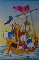 Petit Calendrier Poche 1992 Illustration Disney Donald Et Neveux Bateau - Libourne Gironde - Tamaño Pequeño : 1991-00