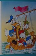 Petit Calendrier Poche 1992 Illustration Disney Donald Et Neveux Bateau -Bezons Maisons Laffitte - Tamaño Pequeño : 1991-00