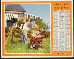 CALENDRIER GF 1959 - La Dinette Et Le Photographe Amateur, Imprimeur Oberthur Rennes - Big : 1941-60