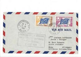 26894 - Première Liaison Aérienne Paris-Cologne-Hambourg Par Lufthansa 2 Août 1961 - Aerei