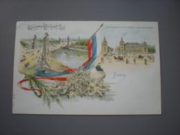 PARIS - EXPOSITION UNIVERSELLE 1900 -  LE PALAIS A L'ESPLANADE DES INVALIDES - LITHO N° 10 - Expositions
