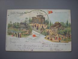 PARIS - EXPOSITION UNIVERSELLE 1900 -  PALAIS DE LA PERSE, LA CHINE, DU JAPON - LITHO RAPHAEL TUCK - Expositions