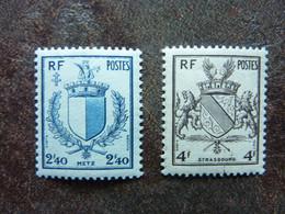 1945   Libération De Metz Et Strasbourg   Y&T =  734/735   ** MNH - Unused Stamps