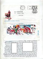 Aerogramme 30 Jeu Olympique Flamme Los Angeles Aide Handicap Illustré Equitation Tennis Judo Etc - Altri