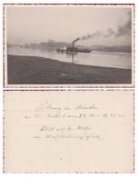 Old Photocard Fotokaart Minden 1936 Brucke Schiff Nordrhein-Westfalen Deutschland CPA AK - Minden
