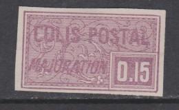 France Colis Postaux N° 18 (.)  15 C. Violet Non Dentelé  Neuf Sans Gomme Sinon TB - Neufs