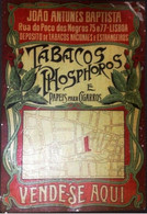 Tin Sign , João Antunes Baptista , Tobacco And  Matches Commerce ,  48  X 33 Cm - Tabac & Cigarettes
