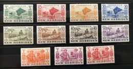 NOUVELLES HEBRIDES 1963 - NEUF*/MH VLH - Série Complète YT 155 / 165 - LUXE - RARE - CV 73 EUR - Unclassified