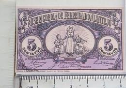 "Portugal-  5 Centavos Ferreira De Alentejo  ""Billets Fictifs Specimen"" (RÉPLICA) UNC - Specimen"