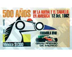 Ref. 49039 * MNH * - MEXICO. 1992. MEXICO FORMULA 1 GRAND PRIX . GRAN PREMIO DE MEXICO DE FORMULA 1 - Automobili