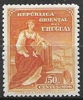 Uruguay Mint Hinged * 5 Euros 1910 - Uruguay