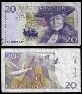 SWEDEN BANKNOTE - 20 KRONOR 2003-05 P#63b F/VF (NT#03) - Sweden