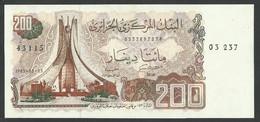 ALGERIA. 200 DINARS. 1983. Pick 135. - Algeria