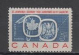 (SA0346) CANADA, 1959 (Great Lakes. St. Lawrence Seaway). Mi # 334. MNH** Stamp - Unused Stamps