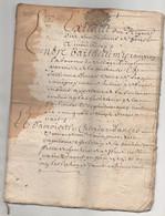 Saint Etienne La Fouillouse 1689 Taché De 16 Pages - Manoscritti