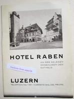 "Brochure ""Hotel Raben Am See, Luzern, Suisse"" - Verzamelingen"