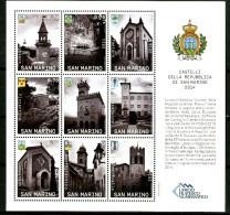 SAN MARINO 2014** - Castelli Della Repubblica Di San Marino - Block MNH Come Da Scansione - Castillos