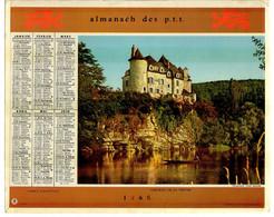 CALENDRIER GF 1960 - Chateau De La Treyne 46 Lot, Chateau D'Ormesson 94 Val De M, Imprimeur Oberthur Rennes - Big : 1941-60