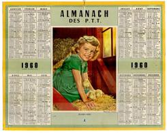 CALENDRIER GF 1960 - Jeunes Amis, Enfant Et Poussins, Imprimeur Oberthur Rennes - Big : 1941-60
