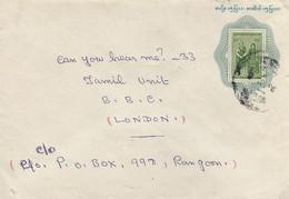 Myanmar Burma 1989 Yangon Traditional Custome 15p Postal Stationary Cover - Myanmar (Burma 1948-...)