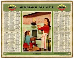 CALENDRIER GF 1960 - Pour La Chandeleur, Faisons Sauter Les Crêpes, Imprimeur Oberthur Rennes - Big : 1941-60