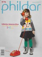 Livre ,Phildar     No 76   Petits Et Grands - Lana