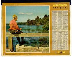 CALENDRIER GF 1960 - Chasse Et Pèche, Avec Liste Alphabétique Communes France 177 Pages, Imprimeur Oberthur Rennes - Big : 1941-60