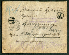 05681 WWI Russia LITHUANIA Vilno CENSOR №93 SEAL 1915 Cancel Subocz (Subačius) Kovno Gub. Cover To Denmark Red Cross - Cartas