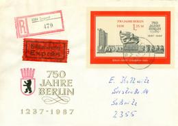 DDR Block 89 Auf Eil-R-FDC Mit Einlieferungsschein - FDC: Covers