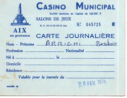 Cartes Casino Municipal No 045725 Aix En Provence - Carte Geographique