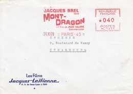 Env  Affr EMA Du 20 XI 70  Jacques Brel Dans MONT DRAGON Adressée à Strasbourg - 1921-1960: Modern Period