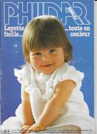 Livre ,Phildar    No 75  Mailles  Layette Facile - Lana