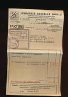 Facture 23.12.1949 Librairie Aristide Quillet  Paris VII ° - Logo Moulin - 1900 – 1949