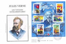 Enveloppe 1er Jour Personnages Célèbres 2005, Jules Verne, 2005 BF (BF85) - 2000-2009