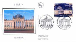 Enveloppe 1er Jour Capitales Européennes, Berlin, Reichstag, 2005 (YT 3813) - 2000-2009