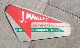 AUTOCOLLANT STICKER - J. MAILLET - CARAVANES TOUT PLASTIQUE - CHOCQUES - PAS-DE-CALAIS - Aufkleber