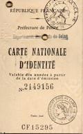 Carte D'identité No 2149156 - Otros