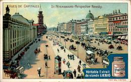 CHROMO LIEBIG - Vues De Capitales Russie St-Pétersbourg Perspective Newsky .... Série Belge N°806 F) - Année 1905 - Liebig