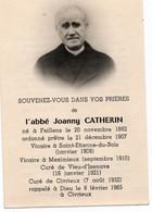 Souvenir De L'abbé J Catherin  FEILLENS Vicaire à St Etienne Du Bois Meximieux Vieu D' Izenave Civrieux - Fotografia