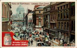 CHROMO LIEBIG - Vues De Capitales Angleterre Londres Fleet Street .... Série Belge N°806 D) - Année 1905 - Liebig