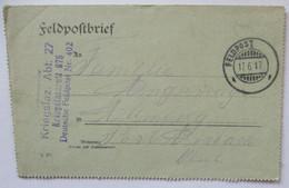 Feldpost Kriegslazarett 675, Feldpost 402, 1917 Nach Allenberg Bayern (58497) - War 1914-18