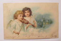 Weihnachten, Engel, Violine, Musizieren, Kirche, 1902 ♥  (39969) - Unclassified