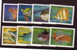 VIET NAM 1984 POISSONS    YVERT N°505A/H  NEUF MNH** - Fishes