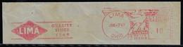 United States 1949 Meter Stamp Slogan Lima Quality Since 1869Locomotive WorksFactory Railroad Train Ohio - Trenes