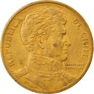 Monnaie, Chile, 10 Pesos, 1994, Santiago, TB+, Aluminum-Bronze, KM:228.2 - Chile