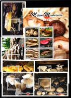 MALAWI, 2018, MUSHROOMS 6 M/S+ S/S, MNH**, - Pilze