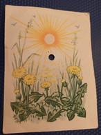 Spring - OLD  Soviet Postcard  PC 1950s Phonocarte Audio Message - , Dandelion - Russia