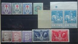 BELGIE  1925   Nr. 234 - 236 / 237-239 / 240 - 244 / 239 In Paar  Postfris **  -<  238 Lichte Scharnier *     CW  39,00 - Ongebruikt